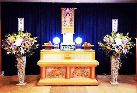 家族葬プラン30の祭壇
